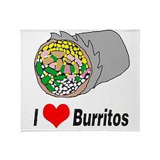 I heart burritos Throw Blanket