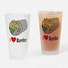 I heart burritos Drinking Glass