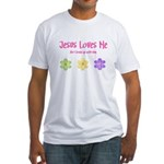 Jesus Loves Me Fitted T-Shirt