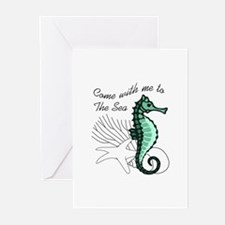 TO THE SEA Greeting Cards
