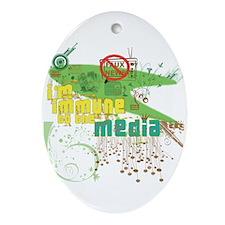 Media Immune Oval Ornament