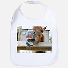 gag funny horse photo Bib