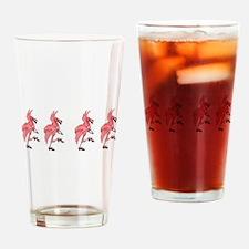 Flamingo Dancer Drinking Glass
