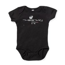 Cyberpunk The Brain White Baby Bodysuit