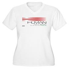 Cyberpunk Human Hybrid Project B Plus Size T-Shirt