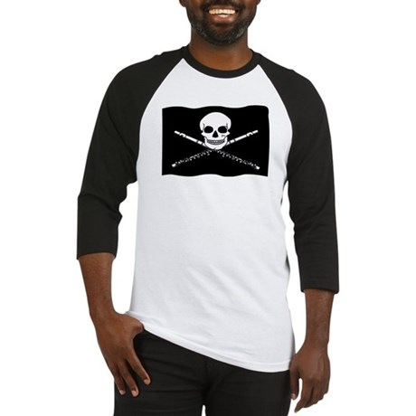Flute Pirate Flag Funny Baseball Jersey