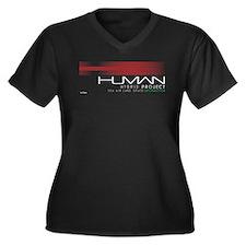 Cyberpunk Human Hybrid Project W Plus Size T-Shirt