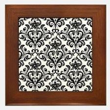 Cute Damask Framed Tile