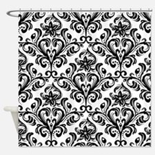 Cute Damask Shower Curtain