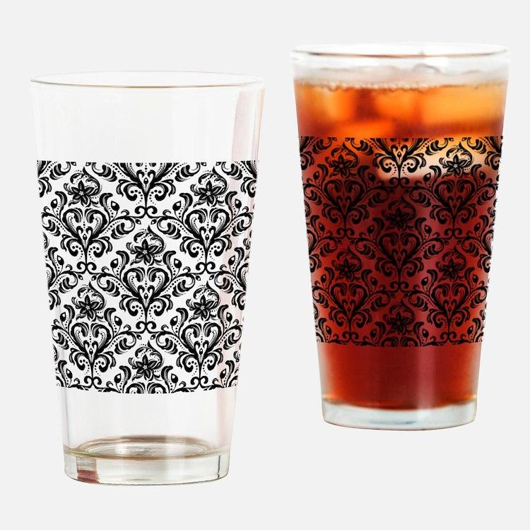 Cute Damask Drinking Glass