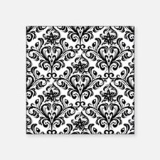 "Cute Damask Square Sticker 3"" x 3"""
