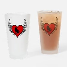 Unique Heart angel wings Drinking Glass