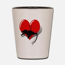 Anti-Valentine Cupid got shot down Shot Glass