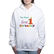First Birthday - Pe... Women's Hooded Sweatshirt