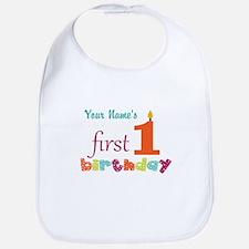 First Birthday - Pe... Bib