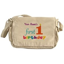 First Birthday - Personalized Messenger Bag