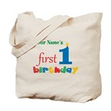 1st birthday Canvas Totes