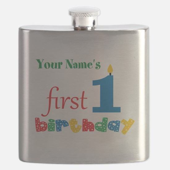 First Birthday - Personalized Flask