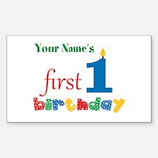 First Birthday - Persona Sticker (Rectangle 10 pk)