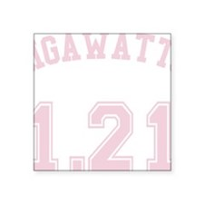 "1.21 Gigawatts Square Sticker 3"" x 3"""