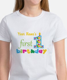 First Birthday - Personalized Women's T-Shirt