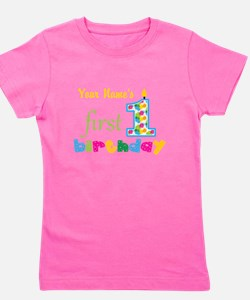 First Birthday - Personalized Girl's Tee