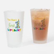 First Birthday - Personalized Drinking Glass