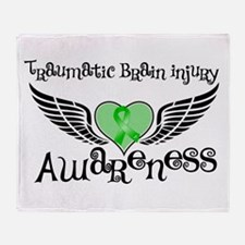 Traumatic Brain Injury Throw Blanket