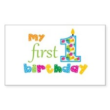 My First Birthday Decal