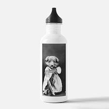 vintage musician dog p Water Bottle