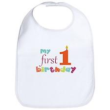 My First Birthday Bib
