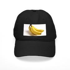 yellow banana fruit food minimalist phot Baseball Hat