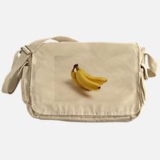 yellow banana fruit food minimalist Messenger Bag