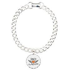 RSD Awareness Wings Charm Bracelet, One Charm