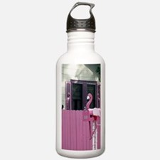 tacky gaudy pink flami Water Bottle