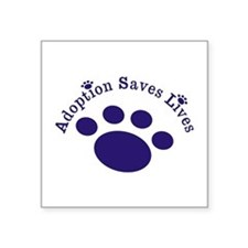 Adoption Saves Lives With Paw Sticker