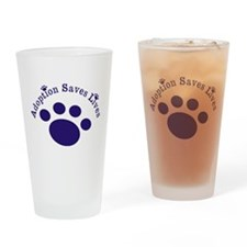 Adoption Saves Lives With Paw Drinking Glass