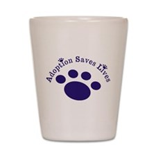Adoption Saves Lives With Paw Shot Glass