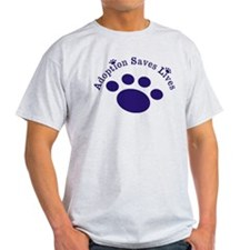 Adoption Saves Lives With Paw T-Shirt