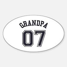 Grandpa's Uniform No. 07 Sticker (Oval)