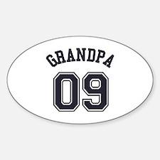 Grandpa's Uniform No. 09 Sticker (Oval)