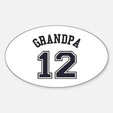 Grandpa's Uniform No. 12 Sticker (Oval)
