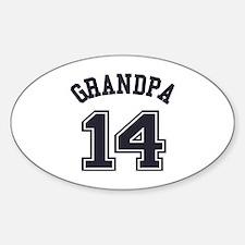 Grandpa's Uniform No. 14 Sticker (Oval)