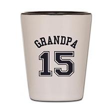Grandpa's Uniform No. 15 Shot Glass