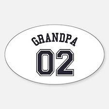 Grandpa's Uniform No. 02 Sticker (Oval)