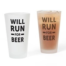 Cute Runner Drinking Glass