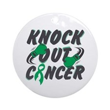 Knock Out Liver Cancer Ornament (Round)