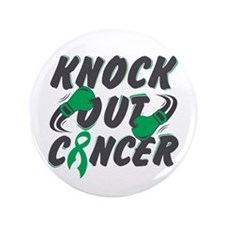 """Knock Out Liver Cancer 3.5"""" Button"""