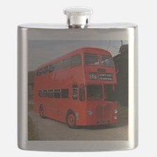 Red double decker bus Flask