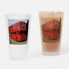 Red double decker bus Drinking Glass